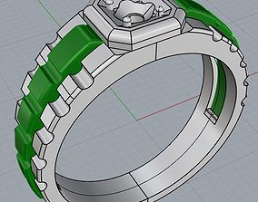 3D print model ring rolex