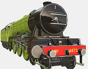 3D model Animated Flying Scotsman Steam Train