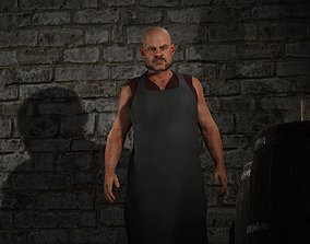 Fantasy Tavern Butcher Basic - Fantasy Clothing 3D model
