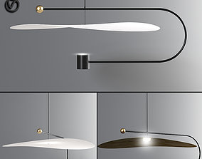 Float Wide Pendant Light 3D model