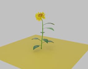 Flower leaf 3D model