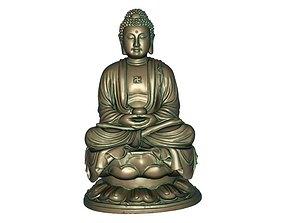 Buddha 3D print model 3D asset VR / AR ready east