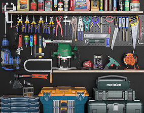 garage tools set 3 3D asset realtime