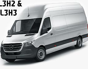3D Mercedes Sprinter 2018 long L2H3 and L3H3