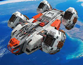 3D model VR / AR ready SF Space Shuttle