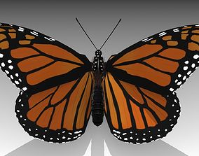 3D asset Monarch butterfly