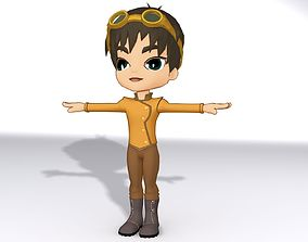 3D asset rigged Cartoon Boy
