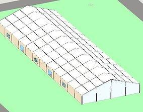 Industrial tent 3D model