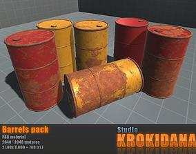 Barrels pack 3D asset