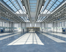 building WAREHOUSE INTERIOR AND EXTERIOR 3D MODEL