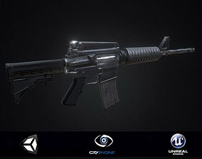 PBR Colt M4 Game Ready 3D asset