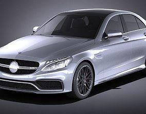 Mercedes-Benz C63 AMG sedan 2017 VRAY 3D