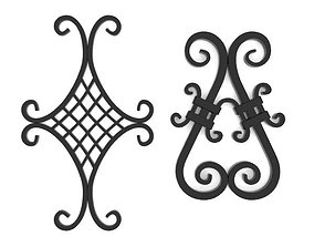 3D model Wrought iron elements vol 4