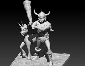 Bobby and the Unicorn 3D print model