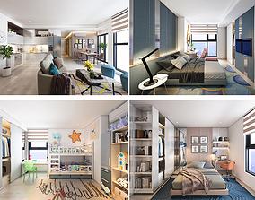 3D model P Apartment Interior full rooms A1