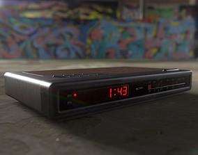 Vintage Radio Alarm Clock 3D model