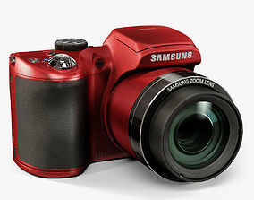3D model game-ready Samsung WB100 Red