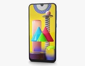 3D model Samsung Galaxy M31 Ocean Blue