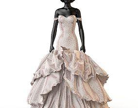 3D Wedding evening dress holiday Escort fashion designer