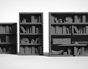 games Fantasy Bookshelves for dungeons 3D print model