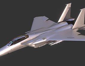 low-poly McDonnellDouglasF-15 3D Model