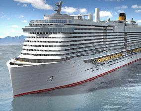 3D Costa Smeralda cruise ship