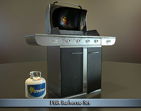 PBR Barbecue Set 3D asset