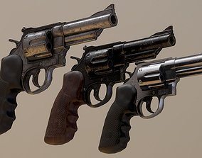 Smith and Wesson Model 629 44 Magnum Revolver 3D asset