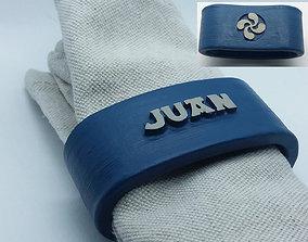 3D printable model JUAN napkin ring with lauburu