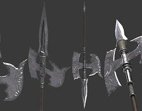 Medieval Halberd 3D asset