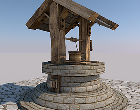 Water Well 3D asset low-poly