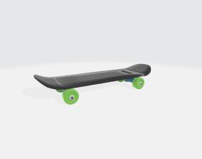 3D printable model skateboarding low poly for printing