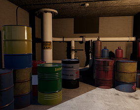 3D asset VR / AR ready Drums and Jerrycans