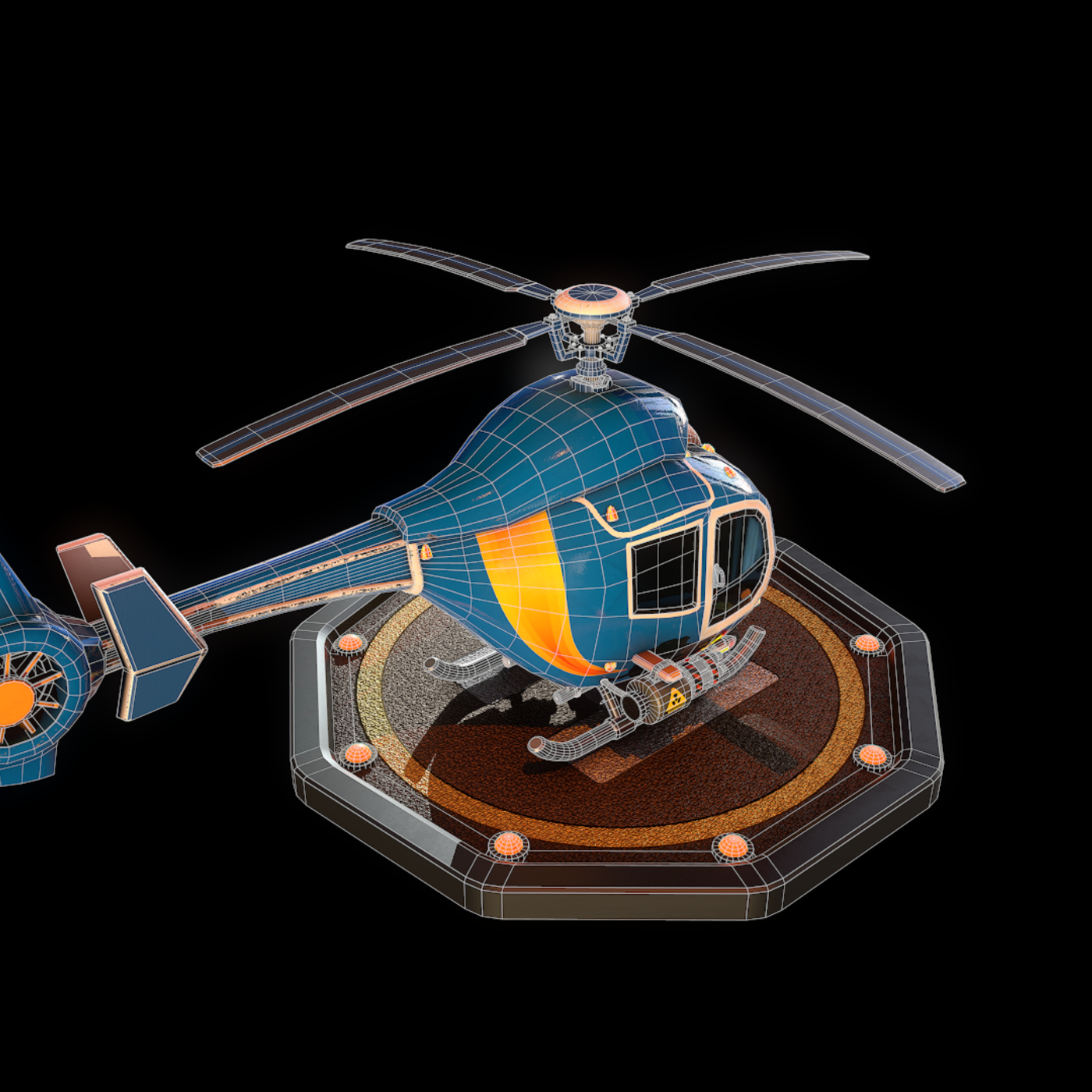 Helicopter || Textured || Low-poly Game Ready Model