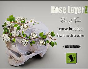 Rose LaerZ Zbrush tool 3D asset