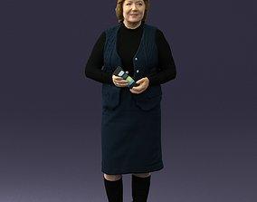 Grandmother vest sleeveless jacket 0495 3D Print