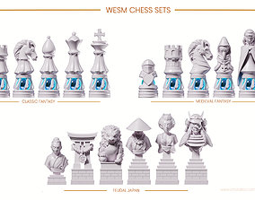 3D printable model WESM CHESS SETS -LUXO