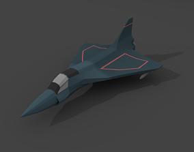 3D asset game-ready Airplane cartoon - 06