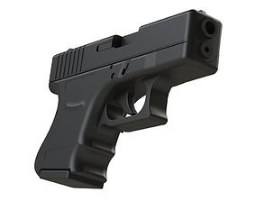 Glock 26 1-1 Scale 3D print model