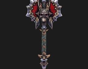 realtime Fantasy axe 2 3d model