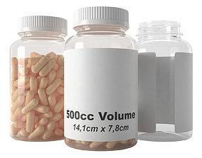 pills bottle 500cc type3 3D model
