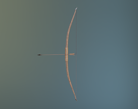 Low-poly Long Bow 3D model animated