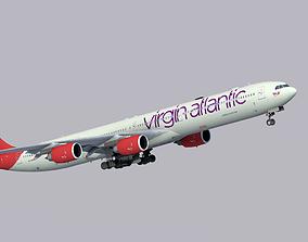 Airbus A340-600 Virgin Atlantic 3D model