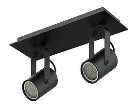 Black Double Lights 3D Model