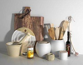 utensils 3D model Composition of Kitchen Utensils