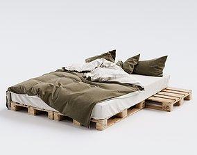 Euro Pallet Bed 3D