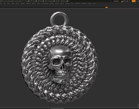 Skull Pendant 3d print model printable