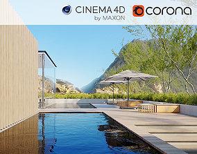 Corona - C4D Scene files - Resort Exterior 3D