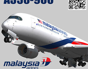 Airbus A350-900 XWB Malaysia Airlines livery 3D model 1