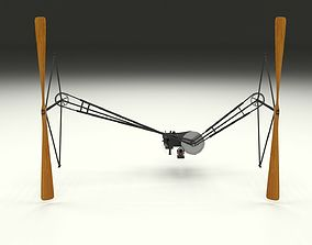 Wright Flyer Propulsion Animated 3D model
